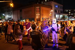 The 2015 Village Halloween Parade Part 4 65. New York's Village Halloween Parade is an annual holiday parade and street pageant presented on the night of every Royalty Free Stock Photo
