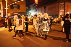 The 2015 Village Halloween Parade Part 4 68. New York's Village Halloween Parade is an annual holiday parade and street pageant presented on the night of every Royalty Free Stock Photo
