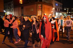 The 2015 Village Halloween Parade Part 4 69. New York's Village Halloween Parade is an annual holiday parade and street pageant presented on the night of every Royalty Free Stock Image