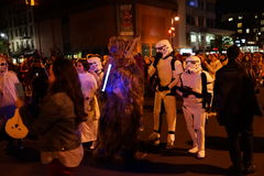 The 2015 Village Halloween Parade Part 4 71. New York's Village Halloween Parade is an annual holiday parade and street pageant presented on the night of every Royalty Free Stock Photo
