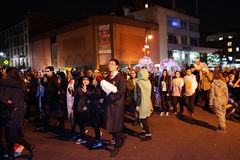 The 2015 Village Halloween Parade Part 4 88. New York's Village Halloween Parade is an annual holiday parade and street pageant presented on the night of every Stock Images