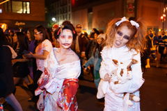 The 2015 Village Halloween Parade Part 5 6. New York's Village Halloween Parade is an annual holiday parade and street pageant presented on the night of every Stock Photography