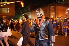 The 2015 Village Halloween Parade Part 5 13. New York's Village Halloween Parade is an annual holiday parade and street pageant presented on the night of every Royalty Free Stock Photo