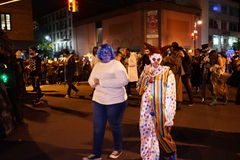 The 2015 Village Halloween Parade Part 5 17. New York's Village Halloween Parade is an annual holiday parade and street pageant presented on the night of every royalty free stock photo