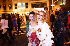 The 2015 Village Halloween Parade Part 5 28. New York's Village Halloween Parade is an annual holiday parade and street pageant presented on the night of every stock photos