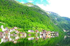 Village in Hallstatt, Austria Stock Photo
