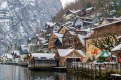 The village of Hallstatt in Austria Royalty Free Stock Photo