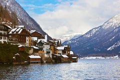 Village Hallstatt on the lake - Salzburg Austria Stock Photo