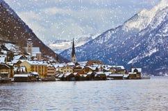 Village Hallstatt on the lake - Salzburg Austria Royalty Free Stock Photography