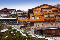 Village Hallstatt sur le lac - Salzbourg Autriche photographie stock libre de droits