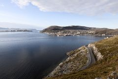Village of Hammerfest, Norway Royalty Free Stock Image