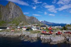 Village of Hamnoy on Lofoten Royalty Free Stock Photo