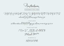 The Village Handwritten Font Stock Photos