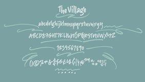 The Village Handwritten Font Stock Photography