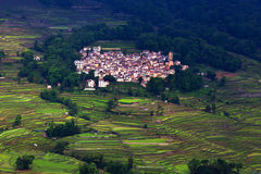 Village of Hani ethnic people, China Royalty Free Stock Photo