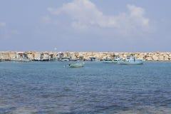 Village harbor on Cyprus Stock Photography