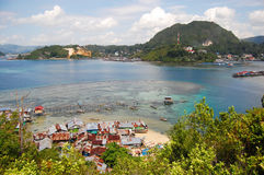 Village at harbor. Jayapura, Indonesia Royalty Free Stock Photos