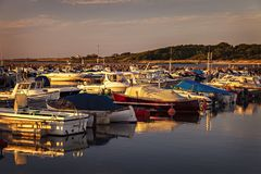 Village harbour Sweden Stock Photography