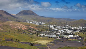 Village of Haria, Lanzarote. View on village of Haria with lots of palm trees, Lanzarote Royalty Free Stock Photo