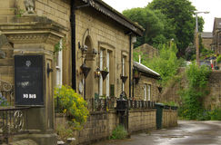 The village of Haworth, home of the Bronte sisters, UK Royalty Free Stock Images