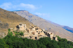 Village in the high atlas mountains Stock Photos