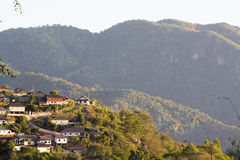 Village on the hill Royalty Free Stock Image