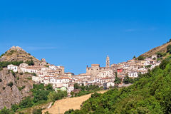 Village on hill Royalty Free Stock Photography