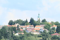 Village on hill Royalty Free Stock Photos
