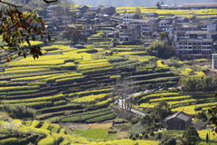 A village on the hillside, is open to everywhere Stock Photography