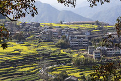 A village on the hillside, is open to everywhere Royalty Free Stock Photography
