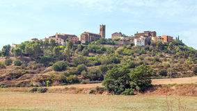 Village in the hillside Stock Image