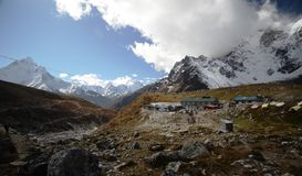 Village in the Himalaya Stock Photos