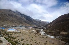 Village in the Himalaya Royalty Free Stock Photos