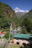 Village in the Himalaya Royalty Free Stock Photography