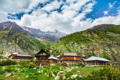 Village in Himalaya mountains Royalty Free Stock Photo