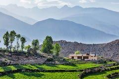 Village in Himalayas Stock Photos