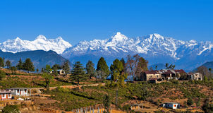 A village at Himalayas Stock Photo