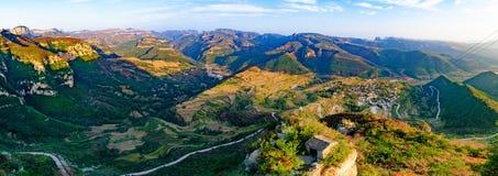 Village historique et culturel chinois -- Wang Nao Photographie stock