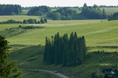 Village Hohlovka Russie de région de Perm Photos stock