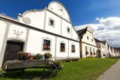 Village Holasovice, patrimoine mondial de l'UNESCO, République Tchèque, l'Europe Images libres de droits