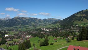 Village and holiday resort Gstaad Royalty Free Stock Images