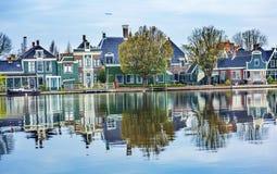 Village Holland Netherlands de Zaan Zaanse Schans de rivière photos libres de droits
