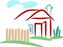 Village home stock illustration