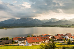 Village of Hopen in the alps of Bavaria Royalty Free Stock Image