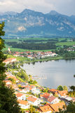 Village of Hopen in the alps of Bavaria Royalty Free Stock Photography