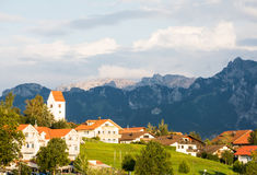 Village of Hopen in the alps of Bavaria Royalty Free Stock Images