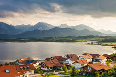 Village of Hopen in the alps of Bavaria Stock Photo