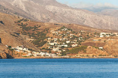 The village Hora Sfakion Royalty Free Stock Photography