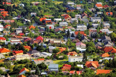 Village house - Aerial view Royalty Free Stock Image