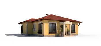 Village house exterior Stock Image
